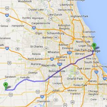 sheridan to chicago route