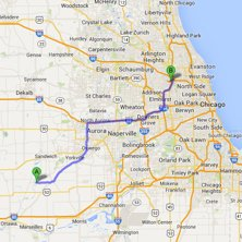 sheridan to ohare route