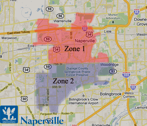 Naperville il limo rate zones