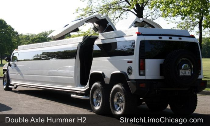 chicago double axle hummer limo