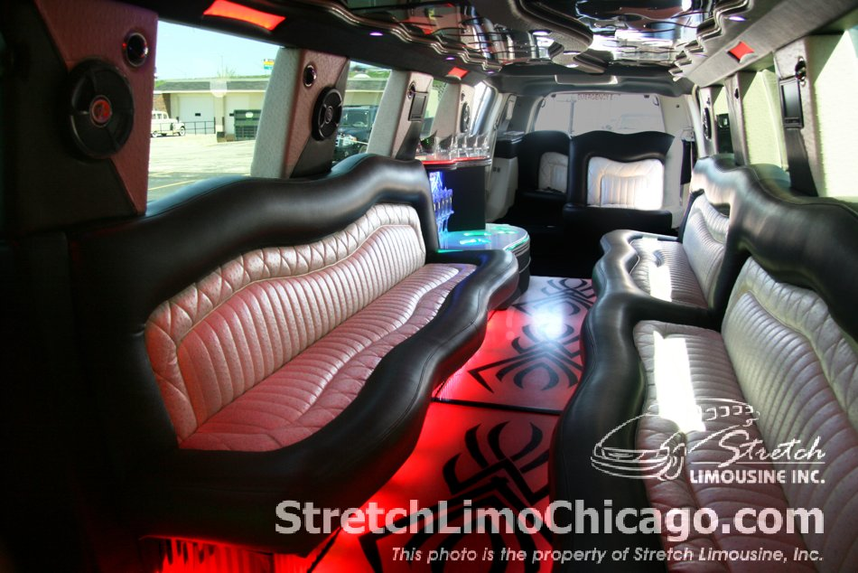 Infinity Q56 SUV limo interior view