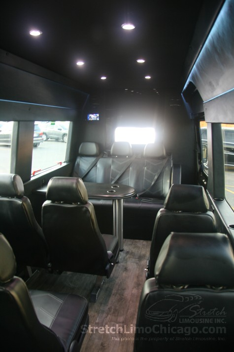 Luxury sprinter interior Back to front inside view.